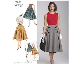 Simplicity Sewing Pattern 8458 Misses' Vintage Skirts