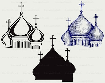 Orthodox temple svg/clipart/temple svg/orthodox silhouette/cathedral cricut cut files/temple clip art/digital download/designs/svg