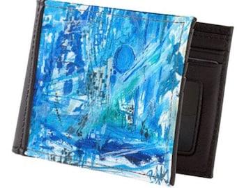 ste•pin•tob•lu•e - men's wallet