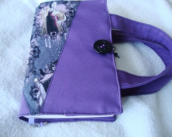 Fabric book cover with handles, upcycle fabric, book cover, handles, gift idea,