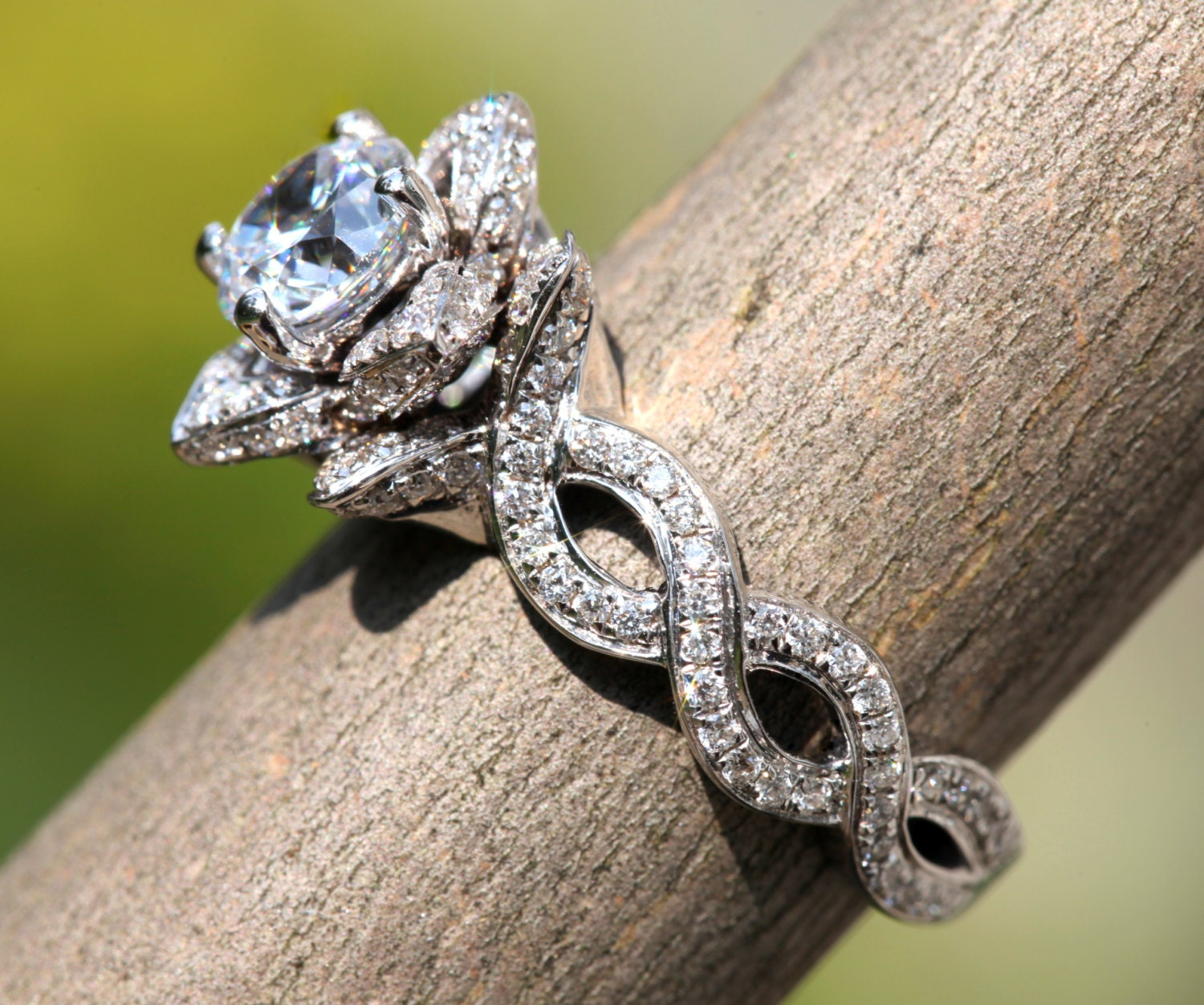 pear features oval a set two side small engagement stones look to like custommade this sapphire and com rings halo with bridal cut white offset gorgeous designed an
