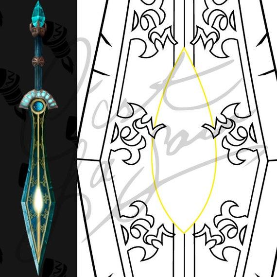 Aesirs edge ulduar transmog sword world of warcraft aesirs edge ulduar transmog sword world of warcraft cosplay pdf vector pattern blueprint malvernweather Gallery
