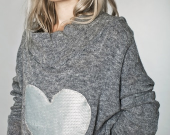 ON SALE 40% off! gray sweater - oversized sweater - cowl neck sweater - long sweater - womens sweaters - knit sweater - pullover sweater