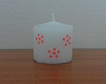 Pink Floral Candle