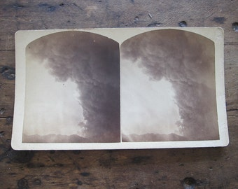 Stereoscope Cards Stereoviews by Charles Emery 1880, Forest Fire Sangre De Christo Range Colorado 3d Photos