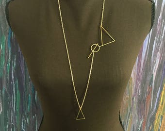 Shifting Triangles Necklace