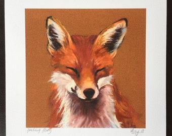 "Open Edition Print - ""feeling foxy"""