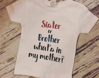 Sister Or Brother Whats in my Mother shirt