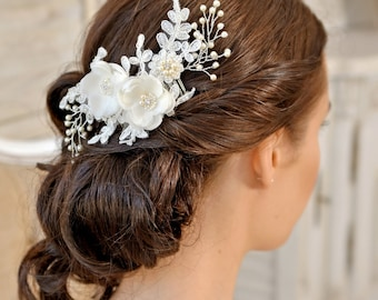 Wedding Hair comb,  Bridal Headpiece, Wedding Headpiece,  Bridal  Hair Piece, Rose Gold Bridal Hair Comb, Wedding Hair Flower, UK  - AMÉLIE