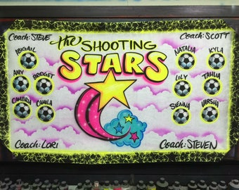Airbrushed Team Banner