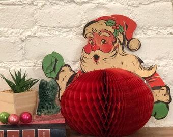 Vintage Beistle Honeycomb Santa