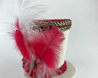 Red and White- Tiny Top Hat