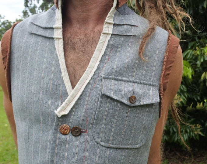 Reconstructed mens vest - small/medium