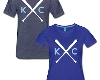 KC Crossbats Kansas City Royals KC Baseball Men's and Women's T Shirt