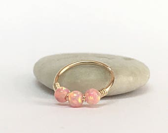 Opal Piercing Earring Cartilage Hoop Opal Helix Earring Opal Helix Hoop Cartilage Earring Hoop, Helix Earring Hoop Piercing Helix Gold Hoop