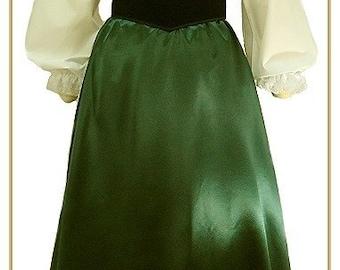 Victorian Emerald Satin Skirt