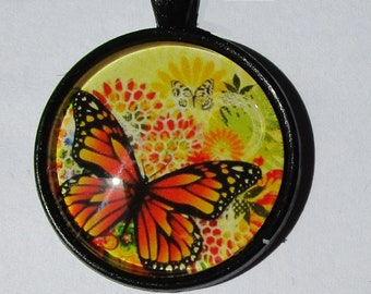 support + Butterfly cabochon 25mm