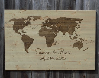 Wood burn world map etsy wood burned world map gumiabroncs Image collections