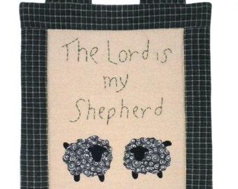 Fabric Wall Hanging - Lord is my Shepherd