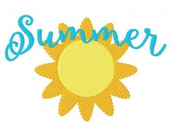 Embroidery Design, Sunshine // Summer //  // 5x7 // Joyful Stitches