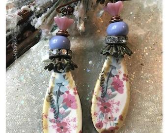 Porcelain Florals Earrings