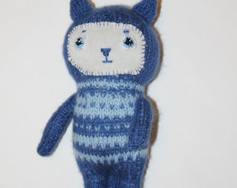 Soft toy for baby Toy Cat Handmade Animal toy Soft toy Soft toy knitting Gift to the child Hand-knitted