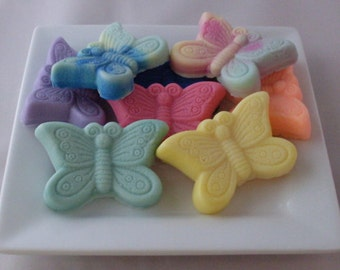 Butterfly Soap Favors 60 Goat's Milk Glycerin Soaps Wedding Favor Soaps Bridal Shower Soaps Soap Favor