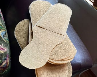 Disposable Paper Slippers, Vintage Paper Slippers, Crepe Paper Slippers, Mikvah Slippers, Medical Supplies, Infection Control Slippers