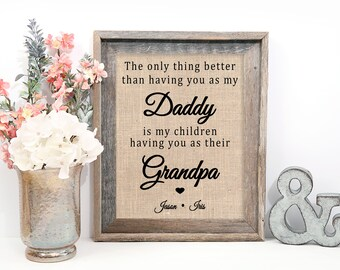 Fathers Day Gift for Grandpa, Father's Day Grandpa Gift, Fathers Day Grandfather, From Daughter