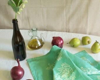 aquamarine seedlings tea towel