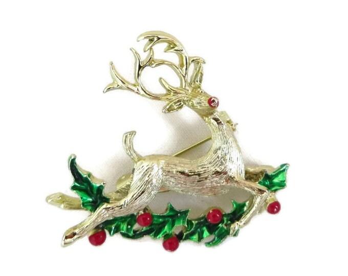 Reindeer Brooch - Vintage Gerry's Deer Pin