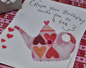 Birthday Greeting Card   Hope Your Birthday Suits You To A Tea