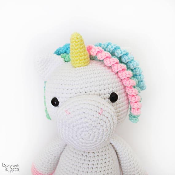 Patrón de Crochet en Inglés Mimi El Unicornio Amigable 38