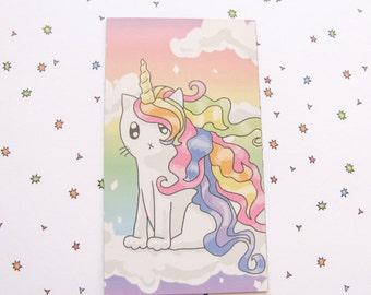 Cute Rainbow Cat Magnet Rainbow Unicorn Magnet Cute Magnet Cat Magnet Fridge Magnet Cubicle Decor Kawaii Magnet Unicorn Magnet Refrigerator