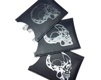 Leather Card Holder, Skull Card Case, Business Card Holder