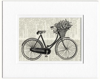 bike III with flowers print