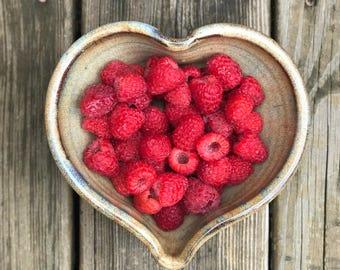 Heart Bowl- Handmade Heart Bowl - Ceramic Heart - Ready to Ship - Rustic Wedding Gift - Pottery Heart Bowls - Handmade Hearts