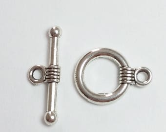 10 x Silver Toggle Clasps - Antique Silver Clasps - Silver Clasps - Bracelet Clasps - Necklace Clasps - Jewelry Findings - B29196