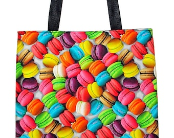 French Macarons Large Carryall Tote Bag