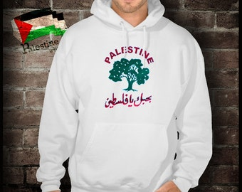 Palestine love with an olive tree sweatshirt