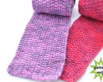 PDF Pattern   Reversible Knit Scarf Pattern   Modified Moss Stitch Scarf Pattern   Beginner Scarf Pattern   Easy Knit Scarf Pattern