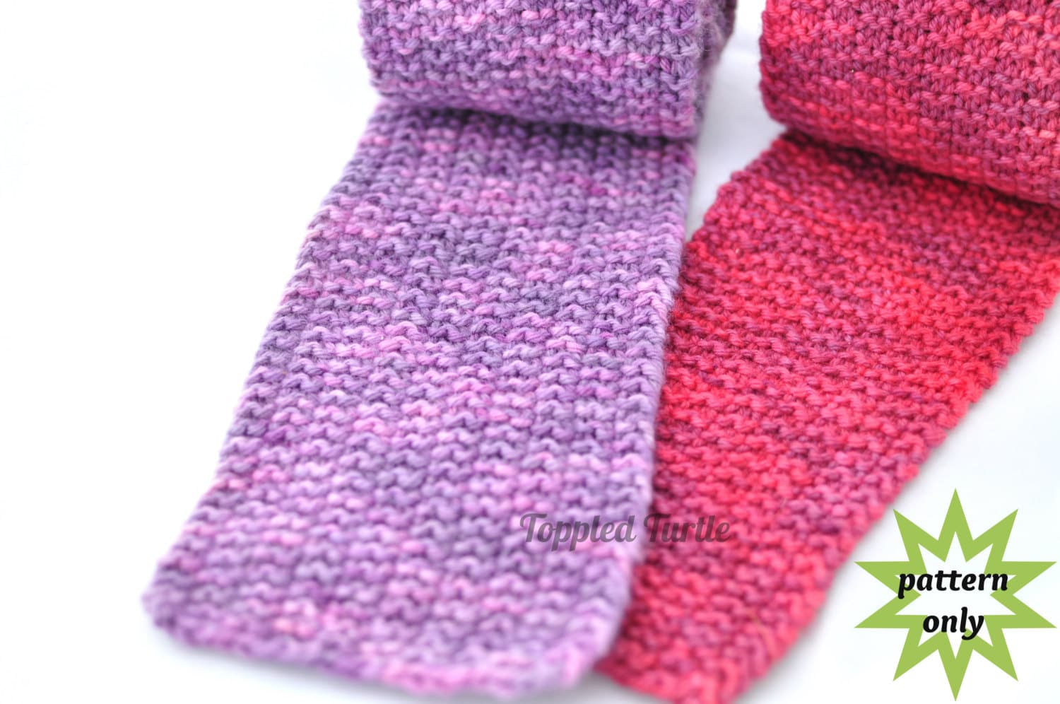 PDF Pattern | Reversible Knit Scarf Pattern | Modified Moss Stitch ...