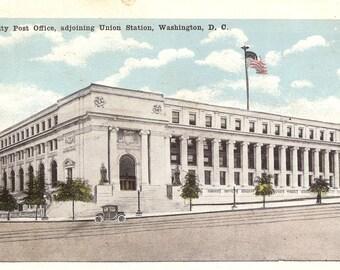 Vintage Postcards....New City Post Office, Adjoining Union Station, Washington, D.C. ....Unused...no. 3424