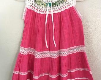 Size 2 hand crochet cotton dress
