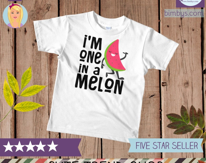 Funny kids shirts, kids graphic tee, One in a melon t-shirt, funny toddler shirt, funny kids shirts, funny kids tee, kids birthday gift