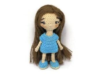 Amigurumi doll. Miniature doll, collection of toys, decorations. Crochet Doll. Handmade