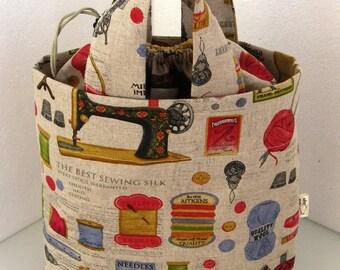 Knitting / Project / Drawstring bag
