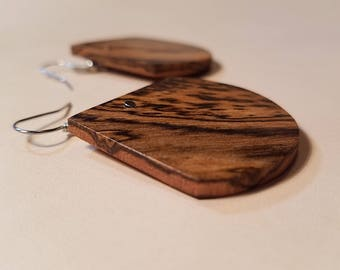 Exotic South American Bocote Wood Earrings