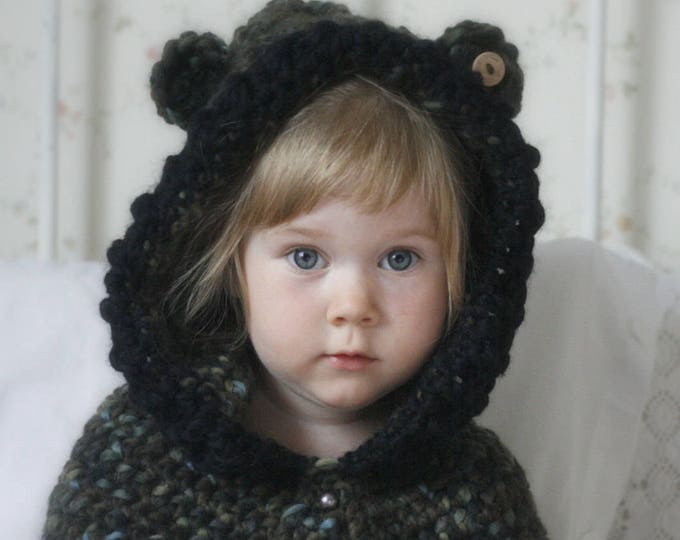 CROCHET PATTERN hooded cowl Phenix (toddler/child/adult sizes)