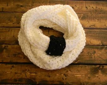 Crochet Chunky Sequin Cowl